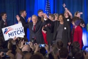 Senate Minority Leader Mitch McConnell Attends Election Night Gathering